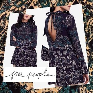Free People Lady Luck Printed Tunic Top Blouse